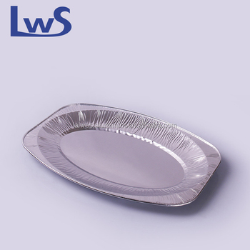 Medium Disposable Aluminium Oval Foil Platters Food Serving Plates Fish Serving Trays & Medium Disposable Aluminium Oval Foil PlattersFood Serving Plates ...