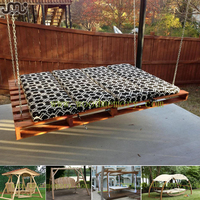 Vintage country style slatted wooden pallet swing,simple fashion pallet garden swing