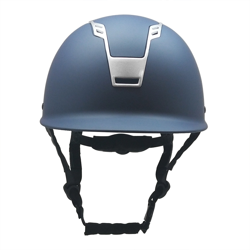 Elegant-navy-blue-equestrian-helmet