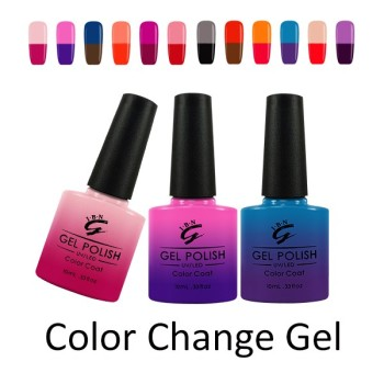 New Color Hot Sale Temperature Changing Colors 10ml Names IBN Nail Art Gel Polishes