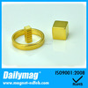 Gold Coating Small Cube Mangnets