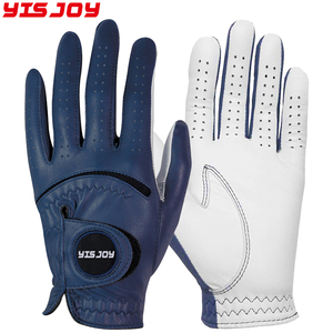 Soft and Durable Colored Cabretta Leather Golf Gloves Women Men's Golf Glove With Custom Logo
