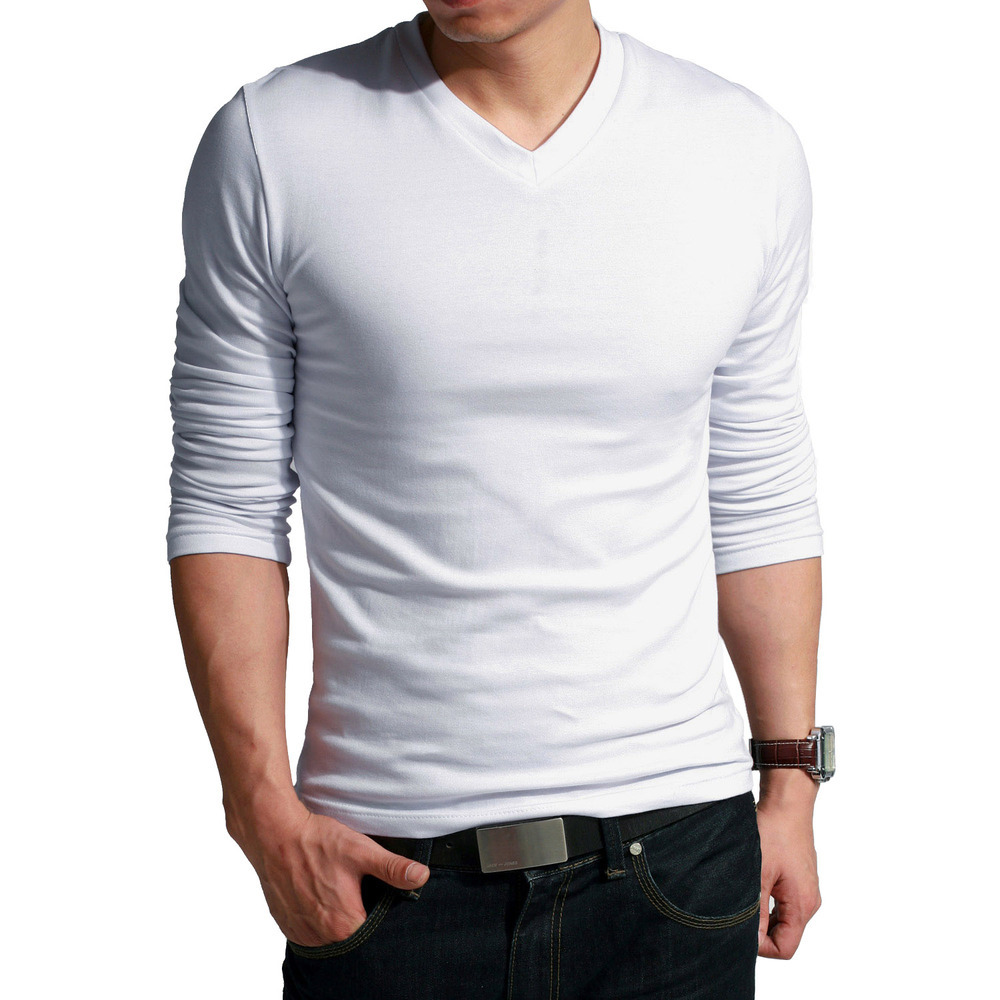 Custom long sleeve white plain blank bamboo fiber cotton t for Bamboo fiber t shirt