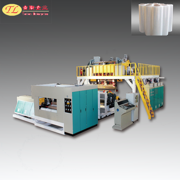1000mm Single Layer Stretch Film Roll Making Machine in Plastic Extruders