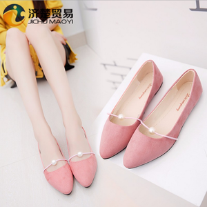 Good quality 12 colors lady fancy shoes Women flat shoes pearl big size lady  shoes 1f2bec2b29e1