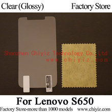 Clear Glossy LCD Screen Protector Guard Cover Protective Film Shield For Lenovo S650 S650i / Lenovo IdeaPhone S650