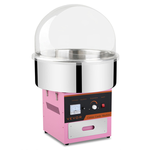 Commercial Electric Cotton Candy Machine Floss Maker Pink with Bubble Cover with Rohs