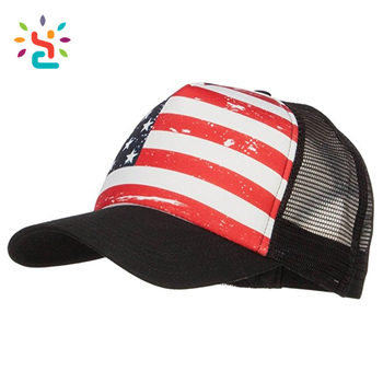 Alibaba best sellers USA Flag Foam Trucker Cap baseball cap Wholesale  custom sports 3D embroidery outdoor feb8f385061