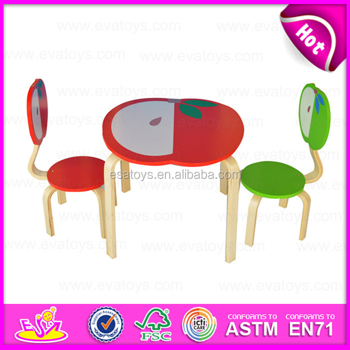 2015 Round Table And Chair For Kids,Animal Design Children Wooden Table And  Chairs,