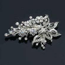 Bulk magnetic 925 silver flower alloy pearl brooch