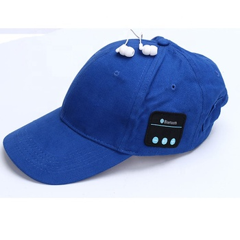 outdoor sports football baseball hat wireless smart cap headphones earphones