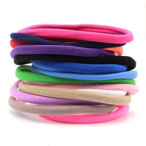 Hot selling thin soft baby nylon headband / various colours soft infant headbands