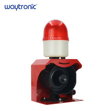 120db 24 volt Waterproof Mini Sound Alarm Device Red LED Warning Strobe Siren Light
