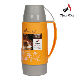 1L 1.8L plastic glass thermos vacuum flask