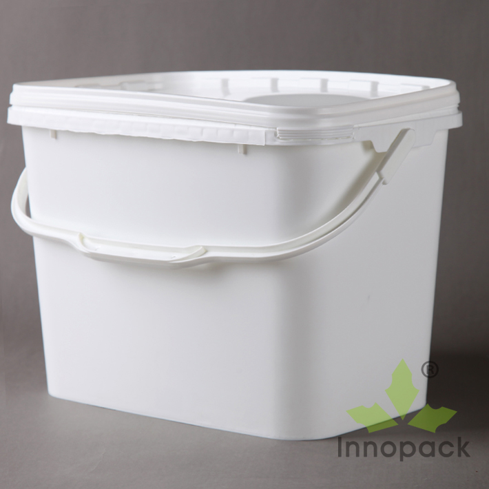 8l Cheap Rectangular Plastic Buckets Containers With Lids