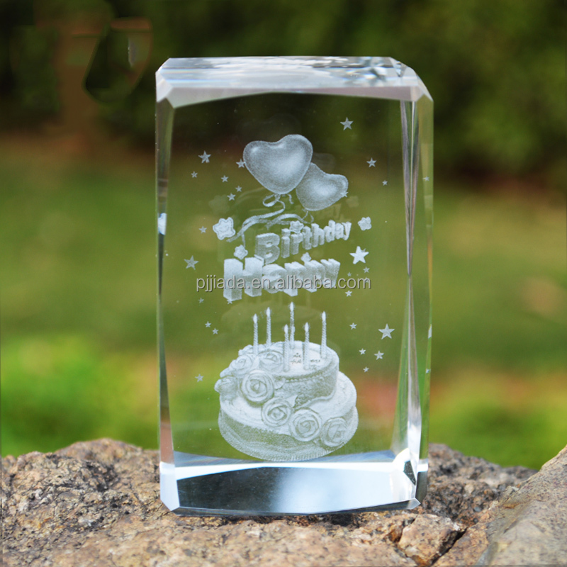 3D Laser Engraved Crystal Cube Crafts crystal wedding gift /christian gifts