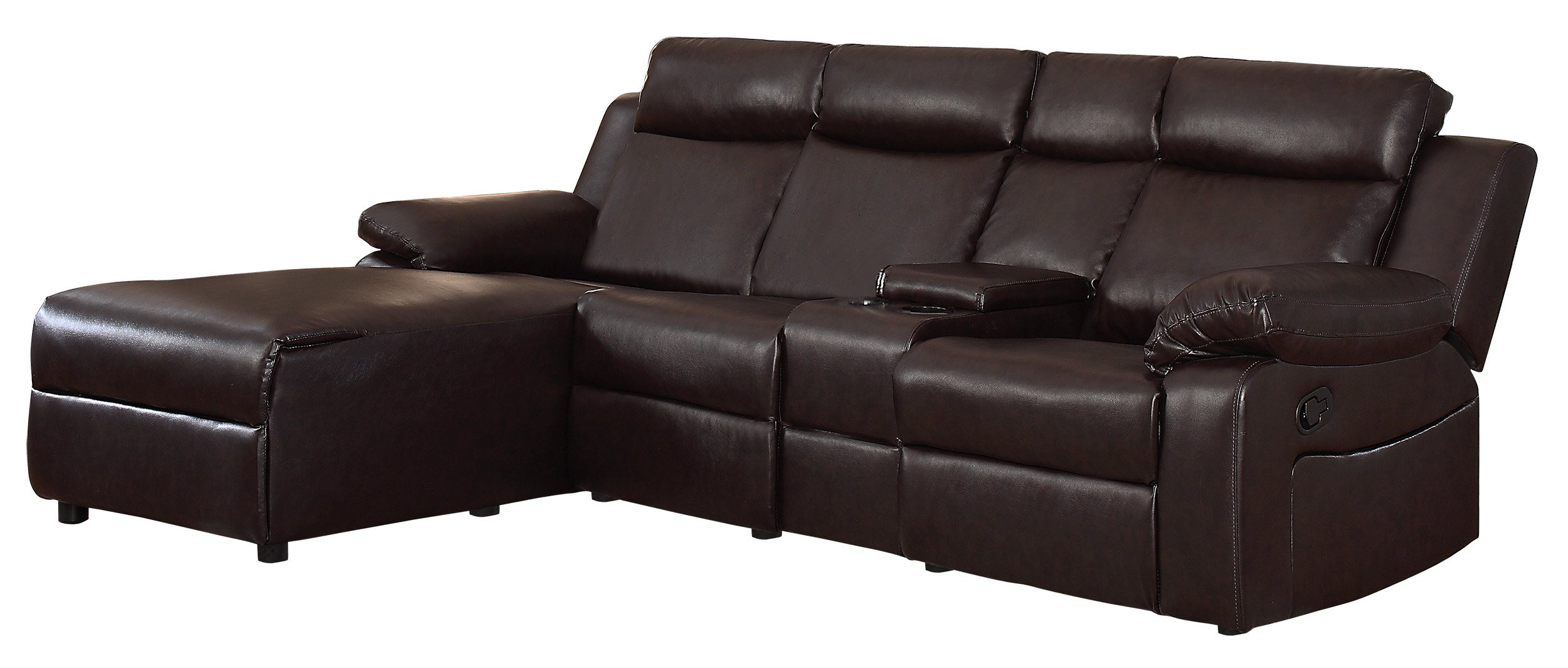 Get Quotations Homelegance Dalal 102 Reclining Sectional With Console
