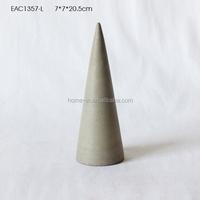 Eco-friendly Modern Simple cone concrete ornament for living room / garden