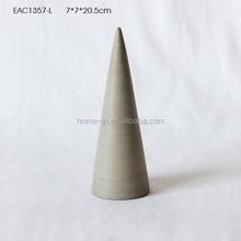 Eco-friendly Modern Simple cone concrete ornament for living room / garden