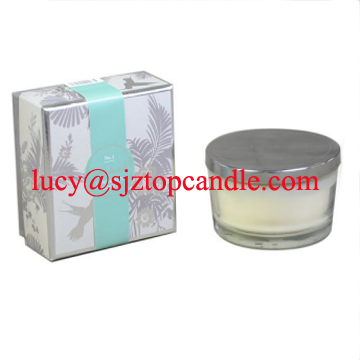 Aromatous candles--non toxic with cotton wick in glass container/lux glass candles