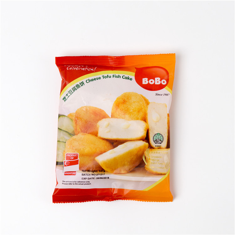 Singapore Food Suppliers frozen Creamy Cheese Tofu Fish Cake Made in Singapore