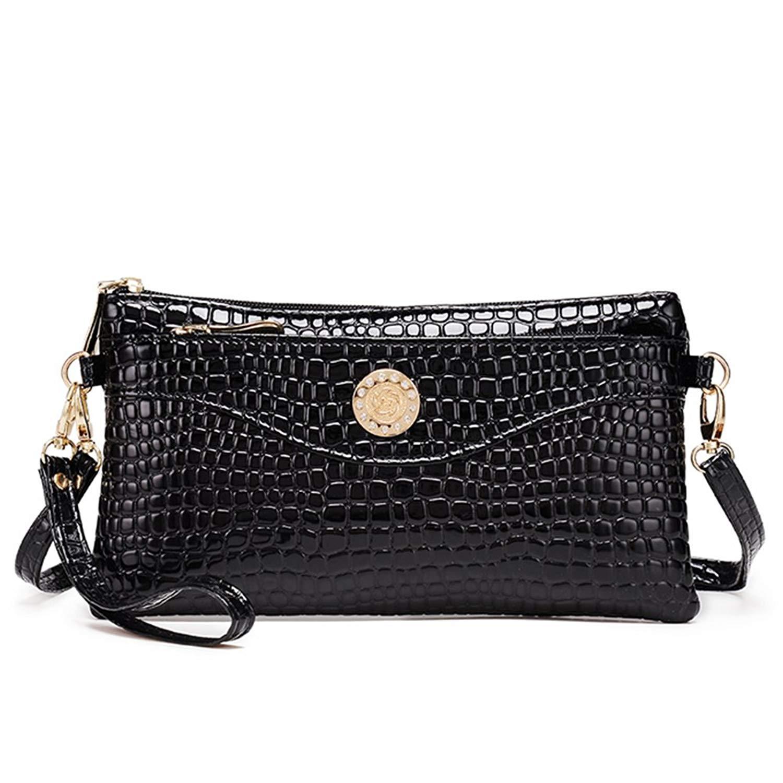 0fd696e573e2 Get Quotations · Ladies Evening Bag Purse Handbag Wallet Alligator Pattern  Women Clutch Bag