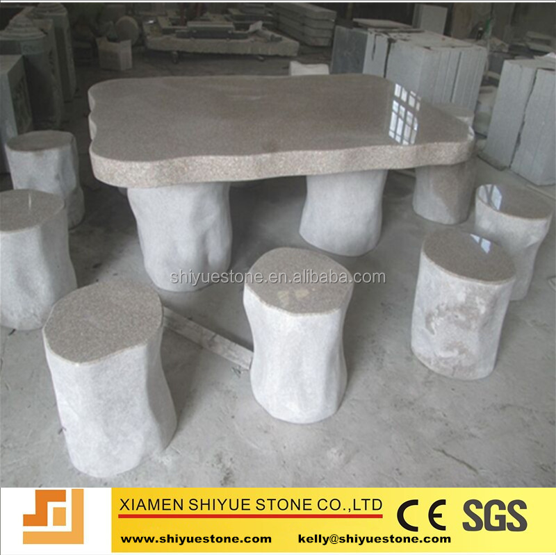 Natural stone chair and table for patio