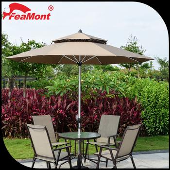 Fashion Design Manul Open Garden Patio Umbrella