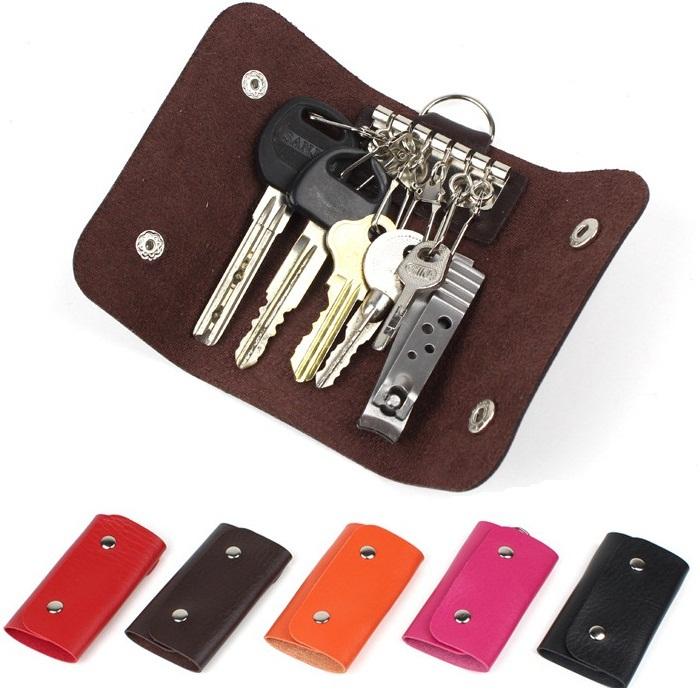 Get Quotations · Women Men PU Leather Key Holder Case Wallets Housekeeper  For Keys Organizer Manager Key Bag d35d91c650a9