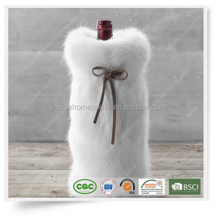 79c446482df0 Faux Fur 01 Wine Bag Bottle Sets Winebottle Cover Wine Cooler New ...