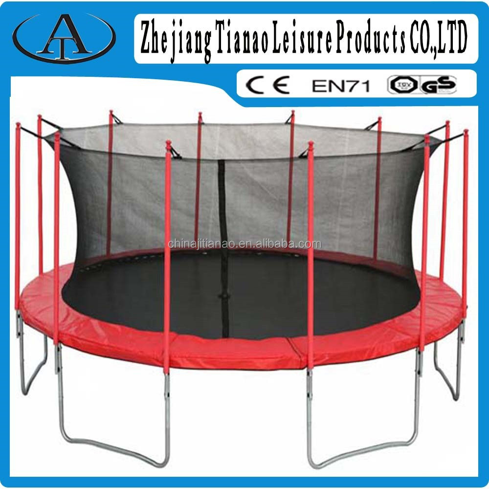 For adult games professional gymnastics trampoline sports trampolines with protective netting for adults TA16-1222-2(1)