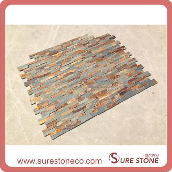 Grobe flache rostigen kultur schiefer au en split wand steinfliesen panel buy schiefertafel - Schiefertafel wand ...