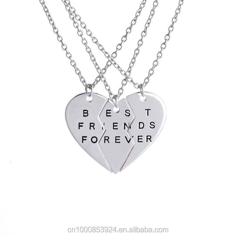 revisa tienda del reino unido color rápido Best Friends Forever Necklaces For 3 Bff Friendship Necklace - Buy  Friendship Necklace,Friendship Necklace,Bff Necklace Product on Alibaba.com