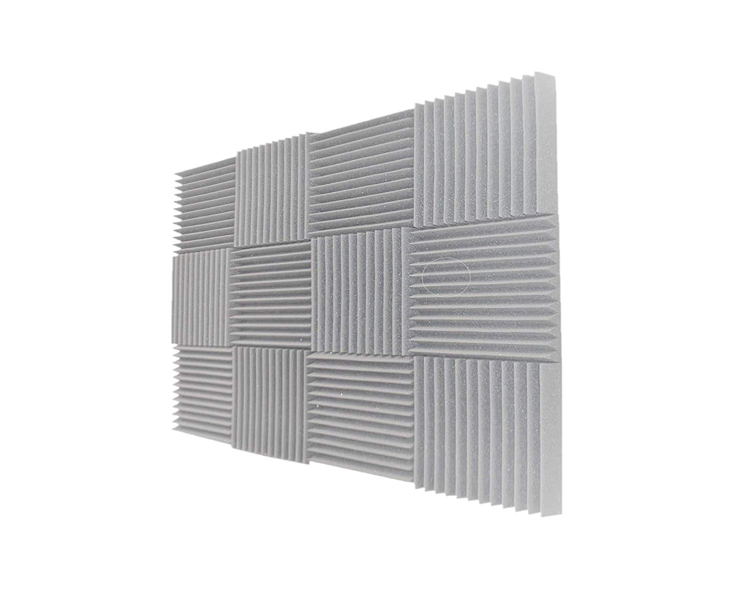 HOUTBY 20 X Acoustic Foam Egg Studio Sound Proofing Treatment Absorption Silent Coat Sound Absorber 50X50X3cm