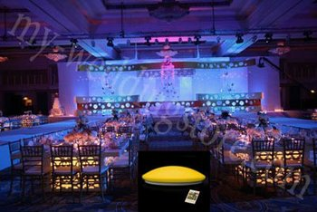 Rechargeable Led Under Table Light For Wedding With Remote Control