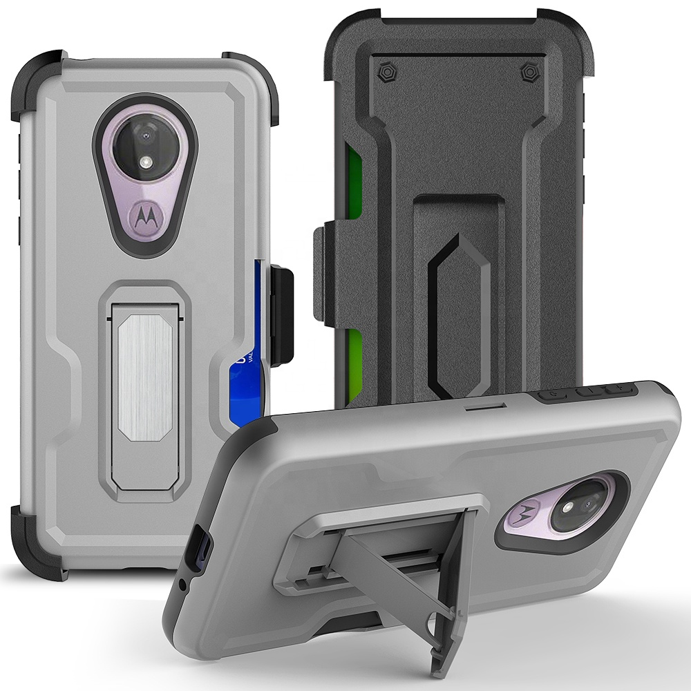 The Best Selling for Mobile phone accessories kickstand hybrid phone case with belt clip cover for Samsung A10