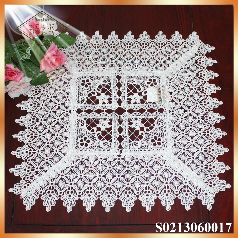 Elegant embroidered lace place mat dish mat for home decor