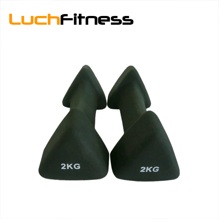 Black One Pair of Vinyl Coated Dumbbells