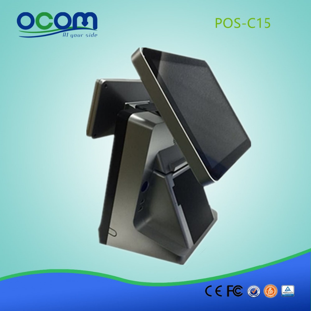 15inch Touch Screen Compact POS System Machine Used in Resturant