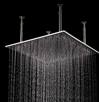 Rectangular Overhead Top Rated Flat Wall Mount Wide Shower Heads In