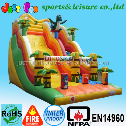 Dinosaur forest theme giant slide for sale,high quality animations slides
