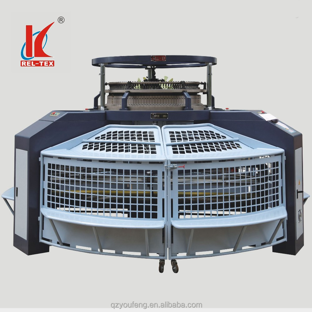 Single Jersey Open Width Circular Knitting Machine For ...