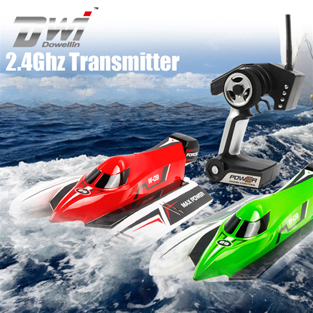 DWI Dowellin High Speed F1 Racing Boat 2.4G Brushless RC Boat For Children