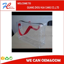 pe pvc plastic pen bag on sale wholesale in Guangzhou/Fashion PVC Cosmetic Zipper Bag with CMYK Logo Print