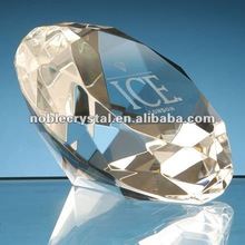 Noble Crystal Logo Engraved Diamond Paperweight