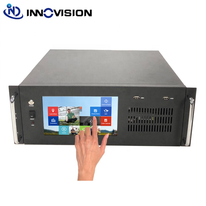 4U Industrial Computer sever Case with LED screen Manufacture