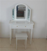 best selling Bedroom furniture white wooden dresser /dressing table with mirror