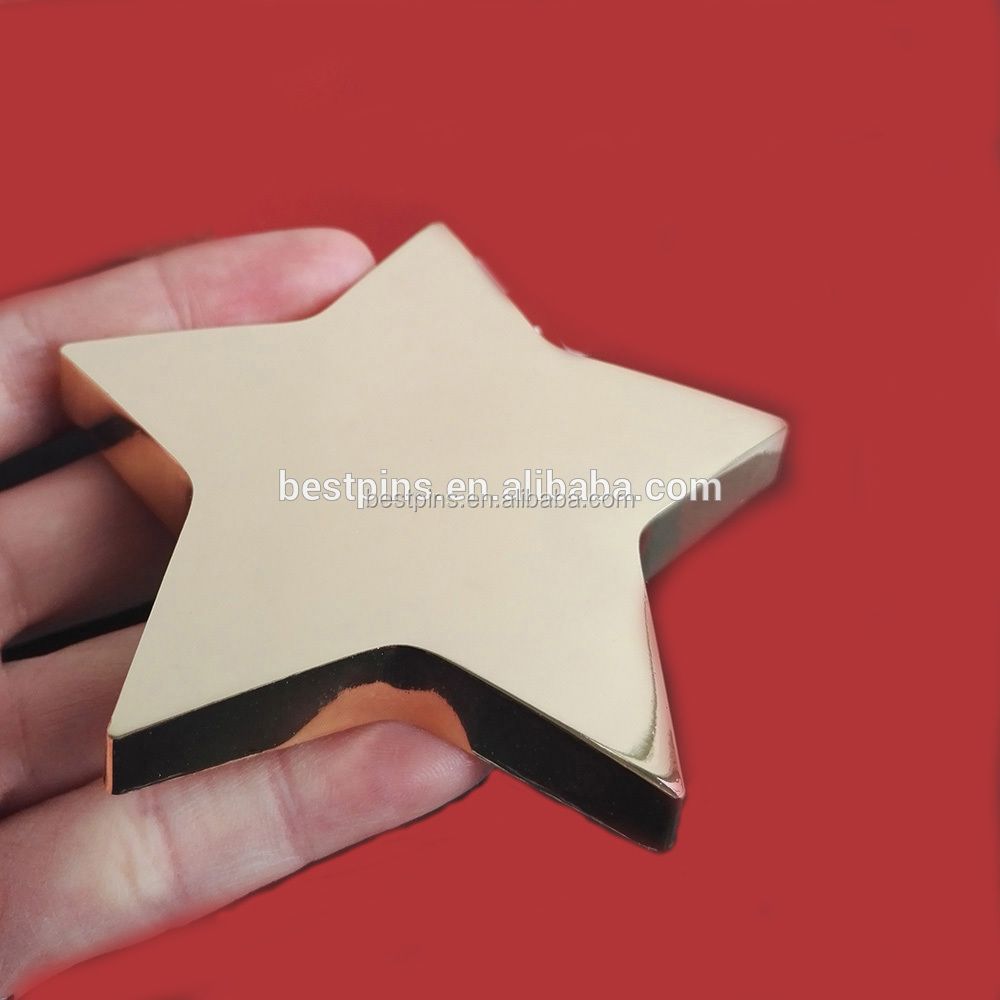 High Gold-polished Star Paperweight Paper Weight Office Decor Product