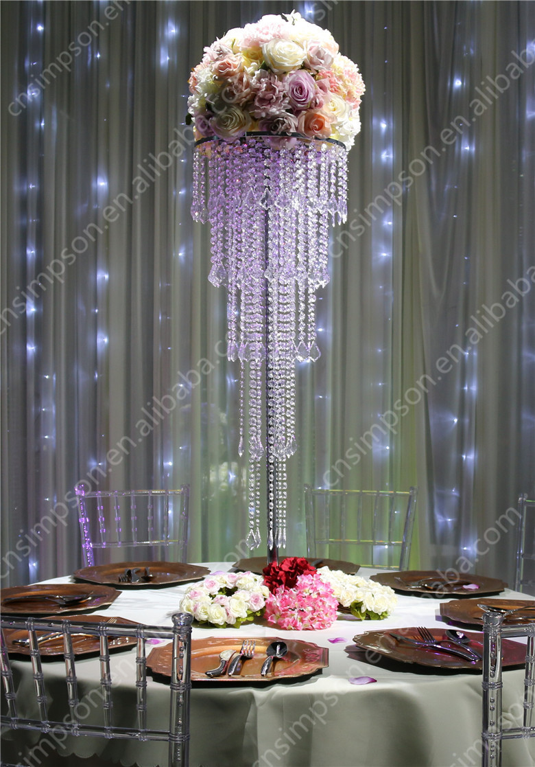 Crystal Acrylic Chandelier Centerpieces Wedding Home Decor - Buy ...