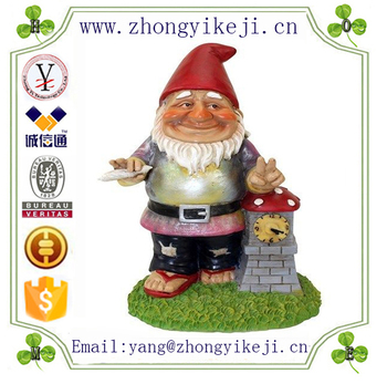Factory Custommade Handmade Carved Fashion Resin Garden Gnomes
